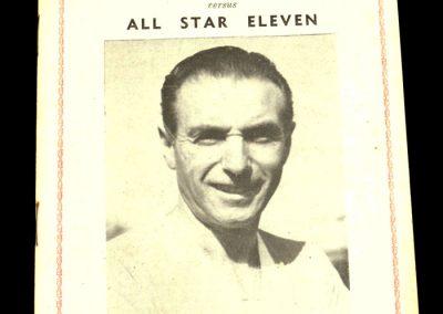 Queens Park Rangers v All Stars 27.10.1958 | Testimonial Match