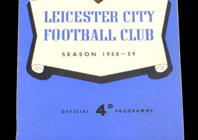 Leicester v Blackpool 01.11.1958