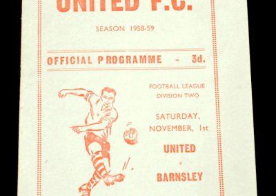 Scunthorpe United FC v Barnsley 01.11.1958