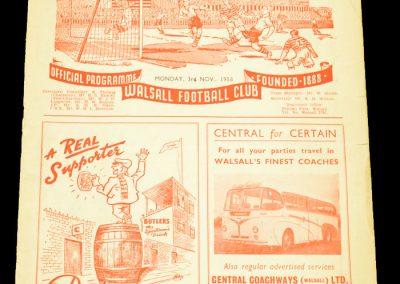 Walsall v Derby 03.11.1958