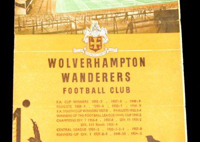 Wolverhampton Wanderers v Bolton 22.11.1958