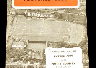 Exeter City v Notts County 06.12.1958