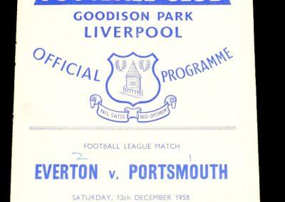Everton v Portsmouth 13.12.1958