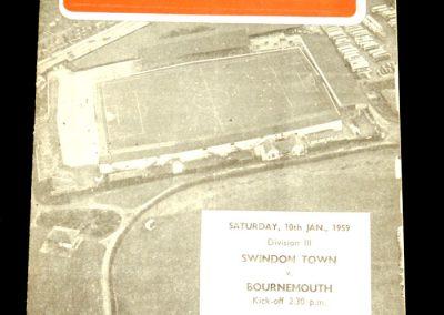 Swindon Town v Bournemouth 10.01.1959