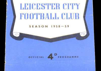 Leicester City v Lincoln City 10.01.1959