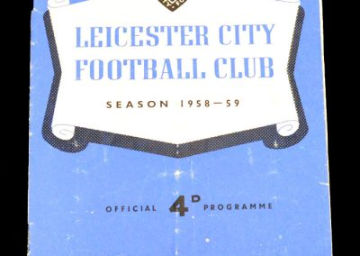 Leicester City v Luton Town 24.01.1959 | FA Cup 4th Round