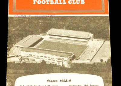 Arsenal v Colchester United 28.01.1959 | FA Cup 4th Round