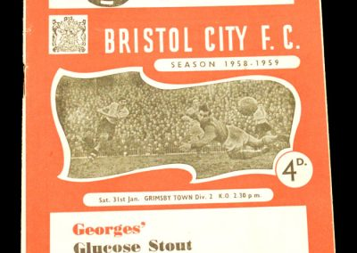 Bristol City v Grimsby 31.01.1959
