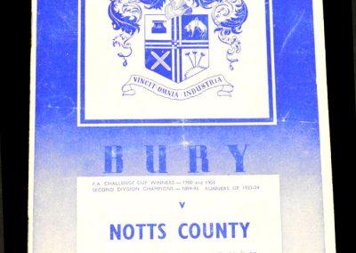 Bury v Notts County 07.02.1959