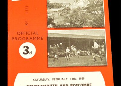 Bournemouth and Bosecombe v Plymouth Argyle 14.02.1959
