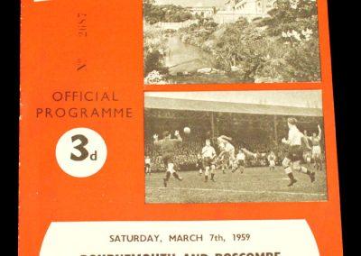 Bournemouth and Boscombe v Wrexham 07.03.1959