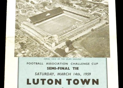 Norwich city v Luton Town 14.03.1959 | FA Cup Semi-Final