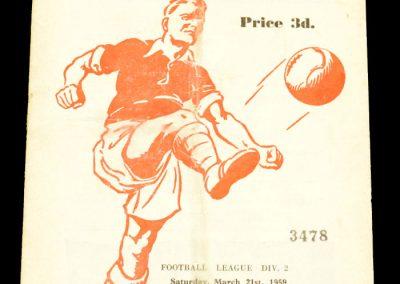 Rotherham United v Sheffield Wednesday 21.03.1959