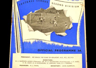 Bristol Rovers v West Ham United 22.01.1955