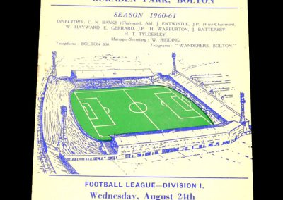 Bolton Wanderers v Wolverhampton Wanderers 24.08.1960