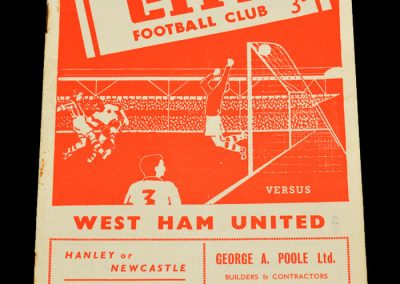 Stoke City v West Ham United 12.03.1955