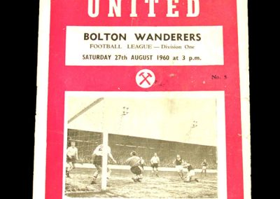 West Ham United v Bolton Wanderers 27.08.1960