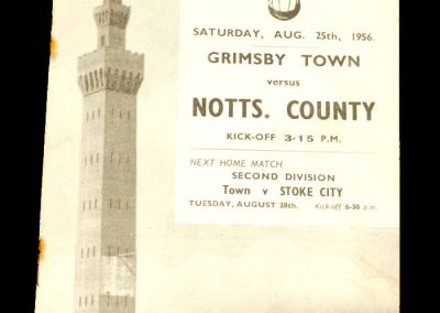 Grimsby Town v Notts County 25.08.1956