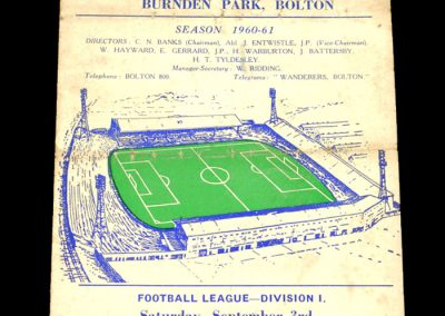 Bolton Wanderers v Chelsea 03.09.1960