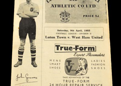 Luton Town v West Ham United 09.04.1955