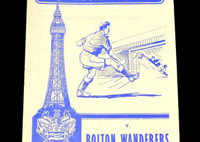 Blackpool FC v Bolton Wanderers 10.09.1960