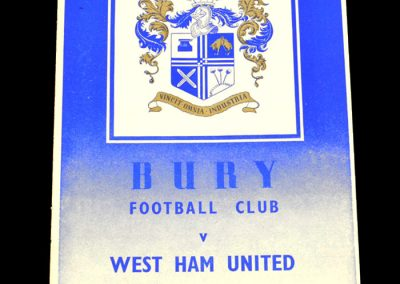 Bury v West Ham United 23.04.1955
