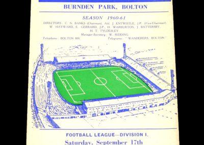 Bolton Wanderers v Everton 17.09.1960