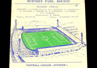 Bolton Wanderers v West Bromwich Albion 08.10.1960