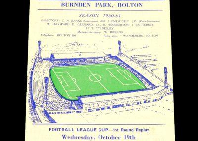Bolton Wanderers v Hull City 19.10.1960