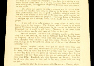 Darlington FC v Barrow 19.09.1956