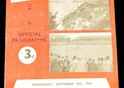 Bournemouth & Bosecombe Athletic FC v Walsall 19.09.1956
