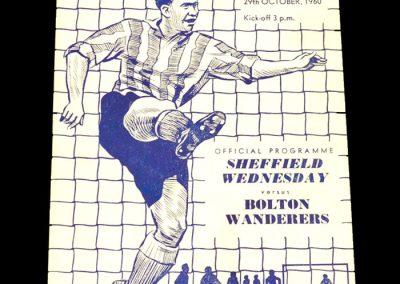 Sheffield Wednesday v Bolton Wanderers 29.10.1960