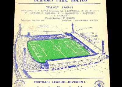 Bolton Wanderers v Manchester City 05.11.1960