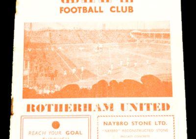 Stoke City v Rotherham United 06.10.1956