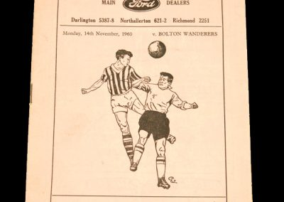 Darlington FC v Bolton Wanderers 14.11.1960