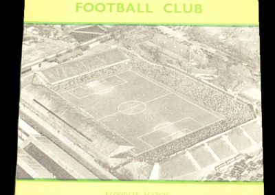 Norwich City v The Army XI 31.10.1956