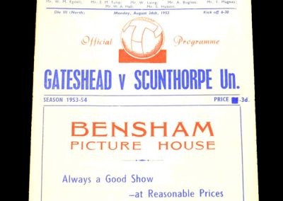 Gateshead v Scunthorpe United 24.08.1953