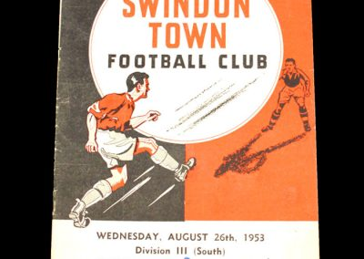 Swindon v Aldershot 26.08.1953