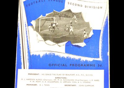Bristol Rovers v Derby 29.08.1953