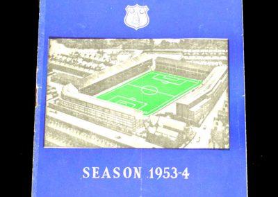 Everton FC v Oldham 29.08.1953