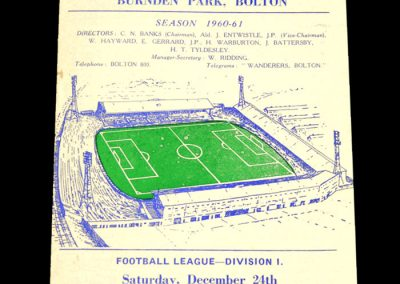 Bolton Wanderers v Leicester City 24.12.1960