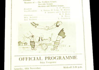 Billingham Synthonia AFC v Stanley United 10.11.1956