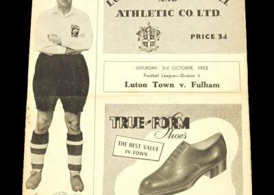 Luton Town v Fulham 03.10.1953