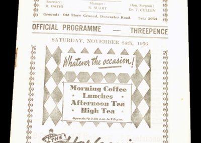 Scunthorpe United FC v Tranmere 24.11.1956