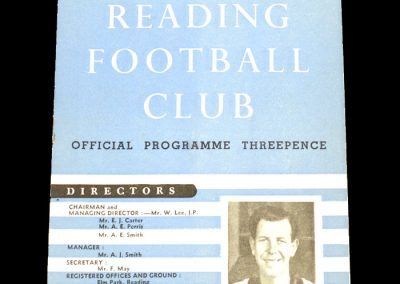 Reading v Aldershot 03.10.1953