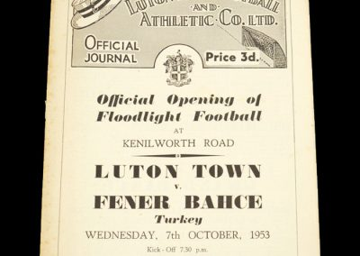 Luton Town v Fener Bahce 07.10.1953