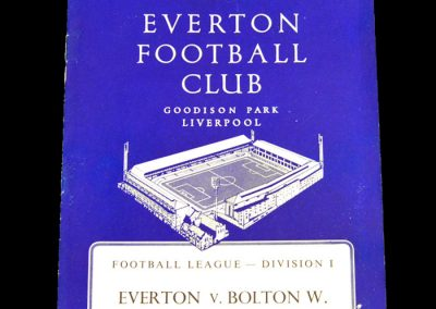 Everton v Bolton Wanderers 04.02.1961