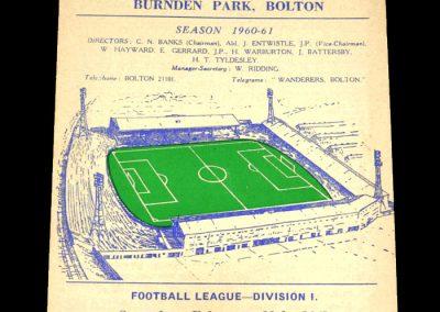 Bolton Wanderers v Blackburn Rovers 11.02.1961