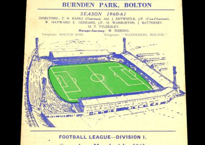 Bolton Wanderers v Cardiff City 04.03.1961