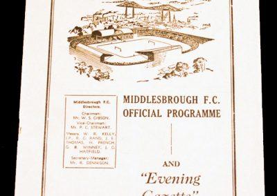 Middlesborough FC v Barnsley 22.12.1956